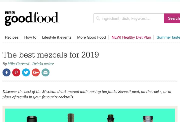 Nuestro Tobalá en la lista de mejores mezcales de BBC Good Food